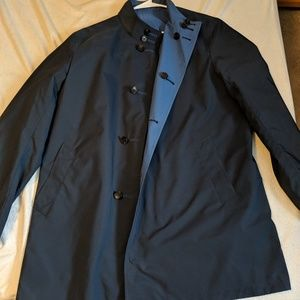 Brooks Brothers Water Resistant Navy Trench Coat